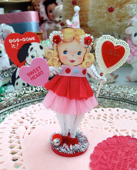 149 best Vintage Valentine Decorations images on Pinterest ...