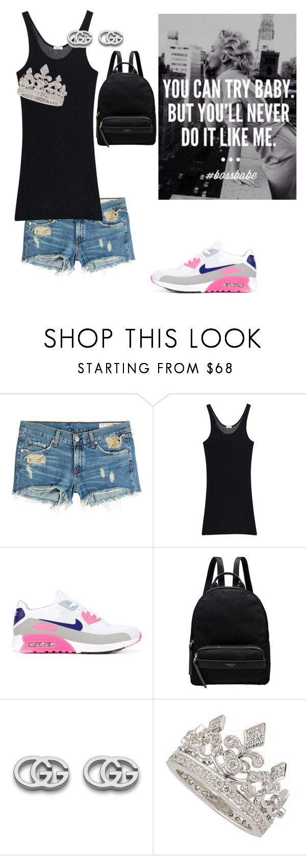 """""""off da meter"""" by sexybadbitches on Polyvore featuring rag & bone, iHeart, NIKE, Radley, Gucci and Garrard"""
