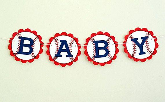 Béisbol bebé ducha bandera  béisbol  béisbol cumpleaños