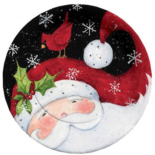 Amazon.com: C.R. Gibson 8 Count Paper Dinner Plates, 10.5-Inch, Christmas Night: Kitchen & Dining