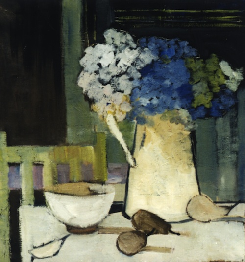 """La chaise verte""-Bénédicte Garnier-Fihey-Oil on canvas"