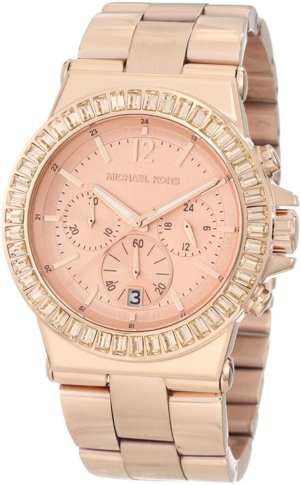 Women\u0027s watches | Women crystal watches sale Michael Kors Watches Ladies  Dylan Glitz Chronograph Rose Gold
