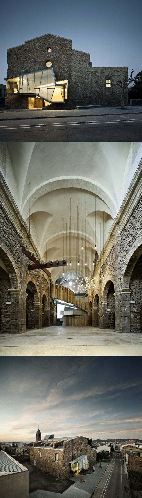 """The Reconversion of Sant Francesc Convent; by: David Closes Architects; """"The intervention preserves the historical heritage of the building and simultaneously adds new values which highlight and singularity the ancient church in a contemporary way."""" &;;"""
