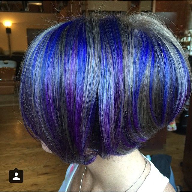 Loving the funky, vibrant colors and cuts coming out of @laurenns16's chair lately!! #purplehair