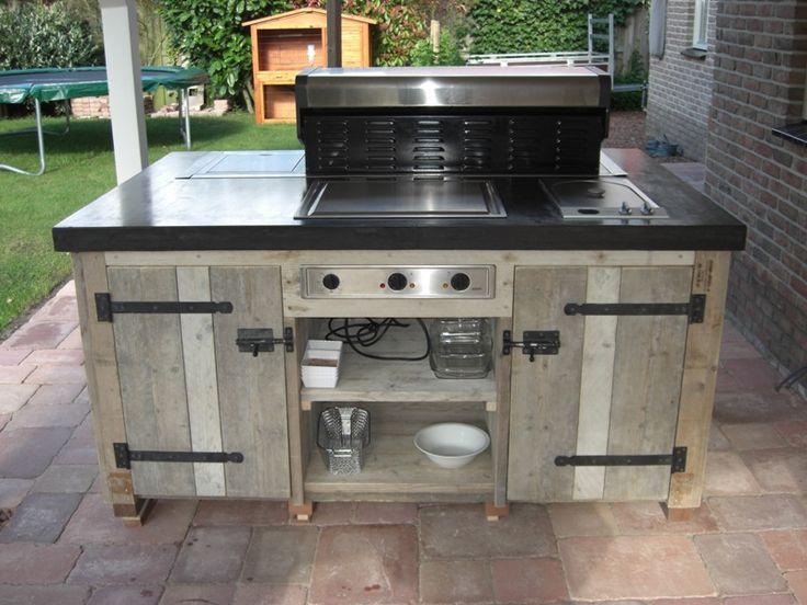 Buitenkeuken Marktplaats : Solidus keuken voor buiten beton en steigerhout – Buiten keuken