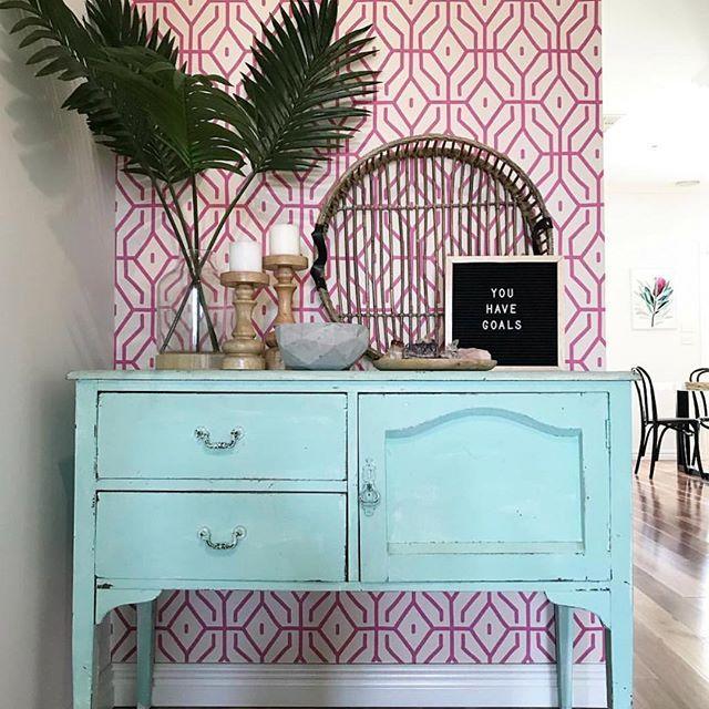 pink geometric wallpaper
