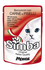 SIMBA - Pouches with meat and peas