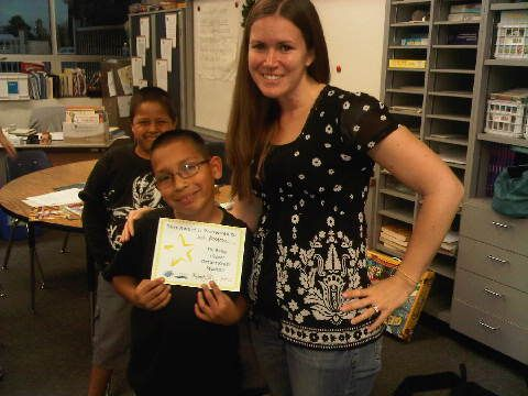 A reader from Esther L. Walter Elementary in the Magnolia School District