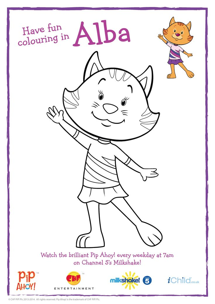 Alba the Gymnast Colouring In picture to celebrate the Commonwealth Games #Glasgow2014!