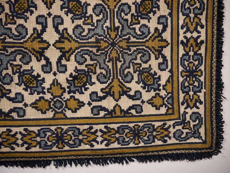 Vintage Portuguese Needlepoint Rug | From a unique collection of antique and modern western european rugs at https://www.1stdibs.com/furniture/rugs-carpets/western-european-rugs/