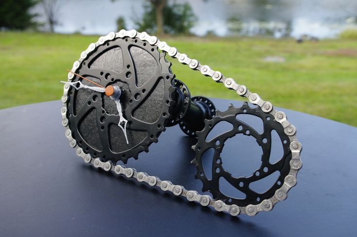 Second Gear Design, cool art like clocks and wall hangings from recycled bike parts.