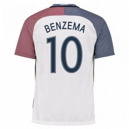 Frankrike 2016 Karim Benzema 10 Borte Drakt Kortermet.  http://www.fotballteam.com/frankrike-2016-karim-benzema-10-borte-drakt-kortermet.  #fotballdrakter