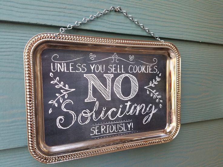 No Soliciting Sign Dollar Store DIY – Shameron Studios