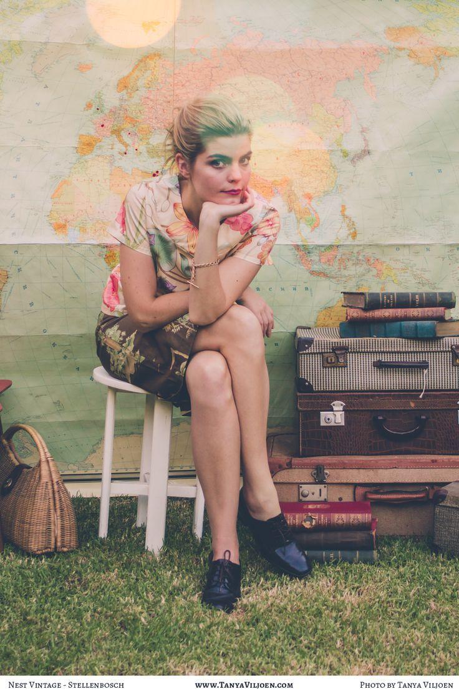 Nest Clothing, Stellenbosch, straight skirt and yoke neck button back top. Photo by Tanya Viljoen.