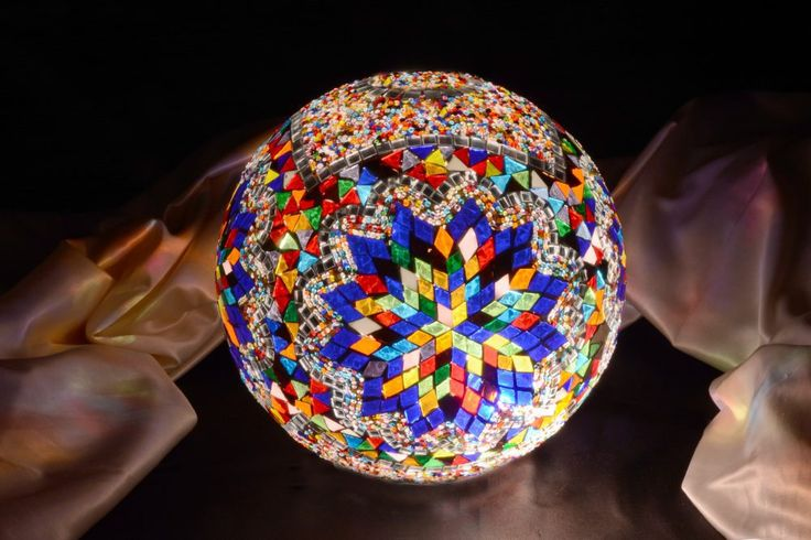 Mosaic Lamp Glass Model 30 cm Ball