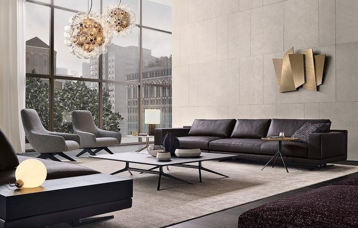 1000 ideas about black leather sofas on pinterest - Divano color prugna ...