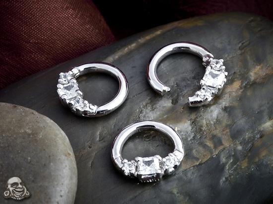 white gold septum jewelry | Body Jewelry / white gold septum clicker.....delicious! (maria tash)