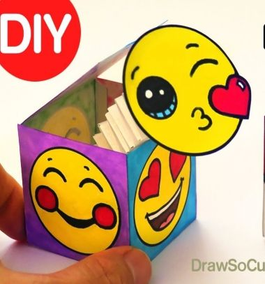 DIY Pop Out Surprise Box Toy // Vicces felugró üzenetes doboz egyszerűen (sablonnal) // Mindy - craft tutorial collection // #crafts #DIY #craftTutorial #tutorial