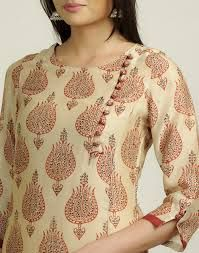 Image result for contrast kurta neck designs