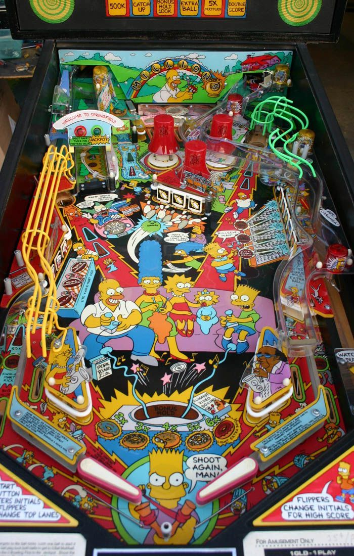 simpsons pinball machine for sale