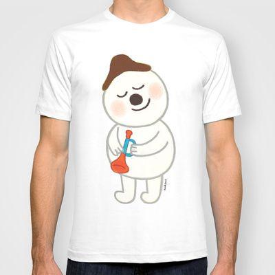 snowman T-shirt by goolygooly - $22.00