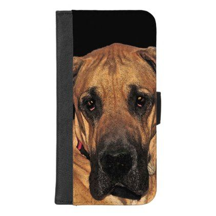 Great Dane Dog Iphone 8 7 Plus Wallet Case Dog Puppy Dogs Doggy