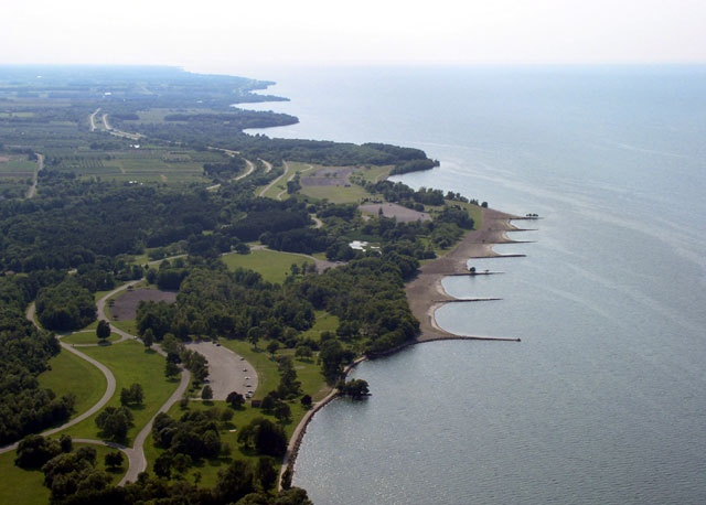 Aerial of Hamlin Beach State Park