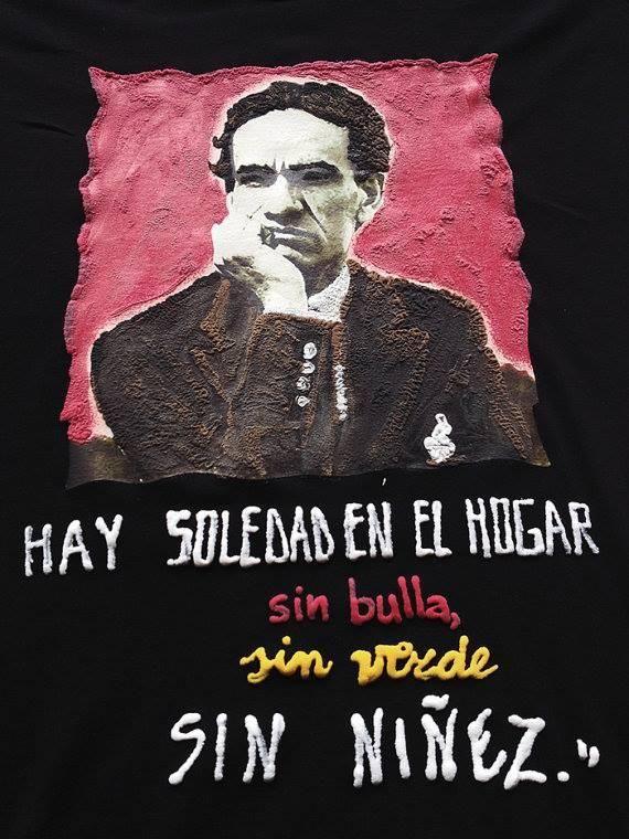 César Vallejo Camiseta Pintada Painted T-shirt