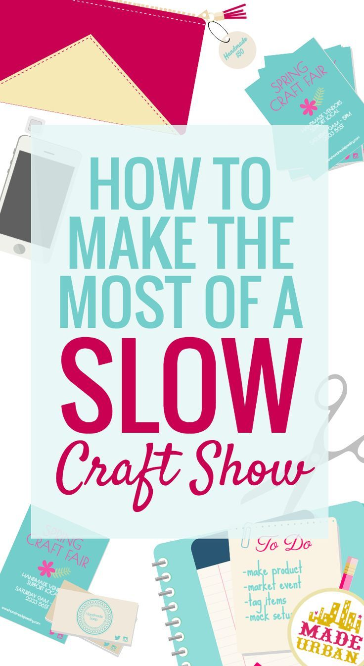 If you and the organizer have done your best to drive traffic to your craft sale or event and nothing's giving, you don't want to spend the whole day miserable. Here are 5 things to make the most out of the situation.