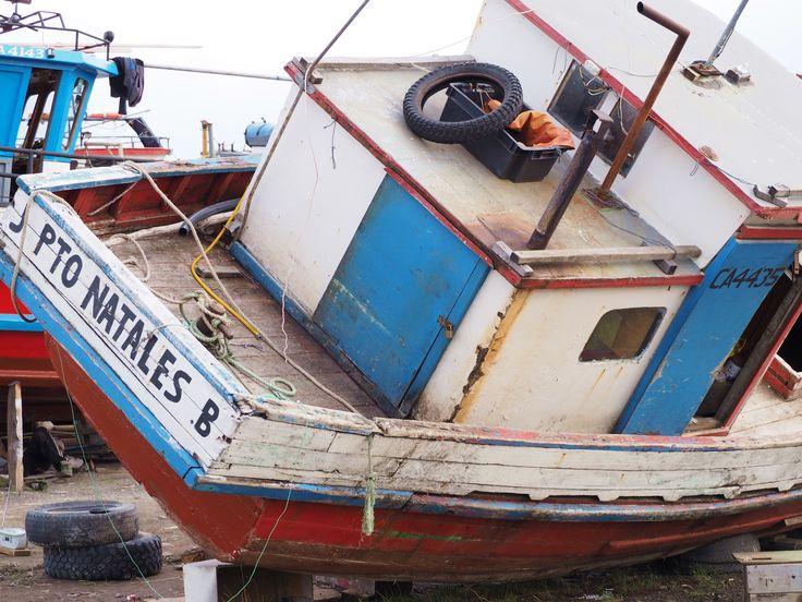 Puerto Natales boatyard, Chile
