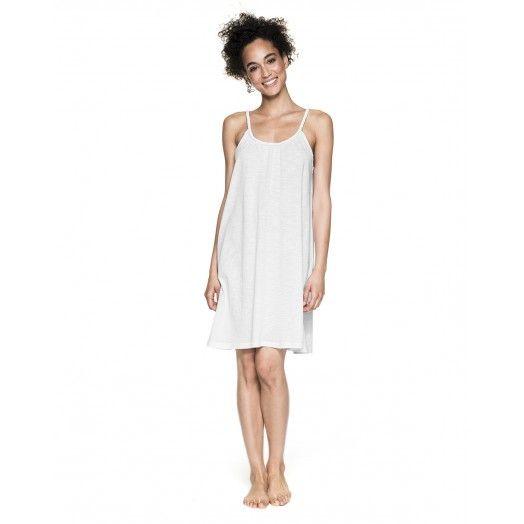 Φόρεμα από slub ζέρσει μακρύ ως το γόνατο με δαντελένια λεπτομέρεια στο πίσω μέρος.