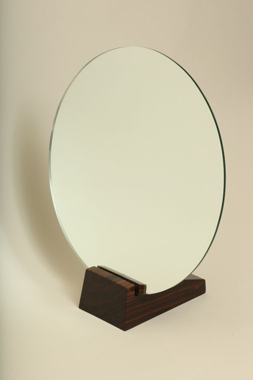 Art Deco Macassar Ebony Table Mirror by Emile Jacques Ruhlmann