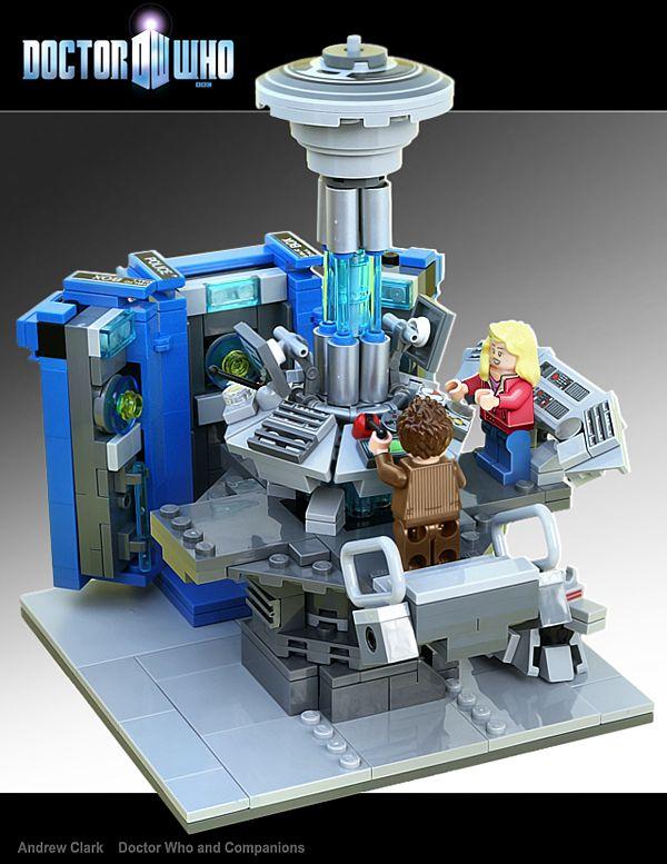 LEGO 'Dr. Who,' 2/3---inside the TARDIS.