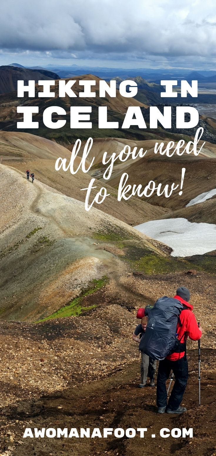 Before you hit the trails in Iceland, learn a few things to go prepared! Read this collection of useful tips and advice on hiking in Iceland. Awomanafoot.com |#Iceland | #trails | #hiking |  #solo | #HikingIceland | All you need to know before hiking in Iceland | Female solo hiking in Iceland | Guide to hiking in Iceland | What you need to know before hiking in Iceland |