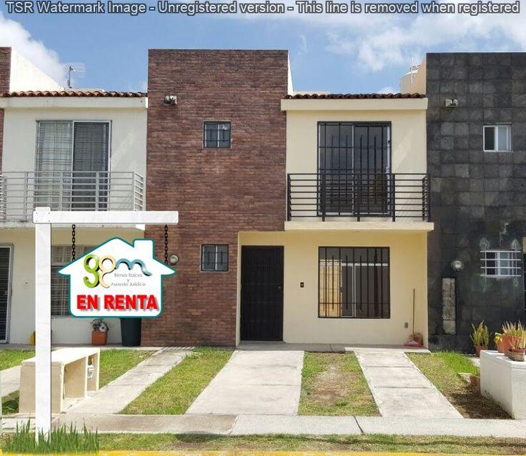 CASA EN RENTA $4,100.00 Incluida cuotas. Condominio Sirona II, Fraccionamiento Real del Valle, Tlajomulco Jalisco.