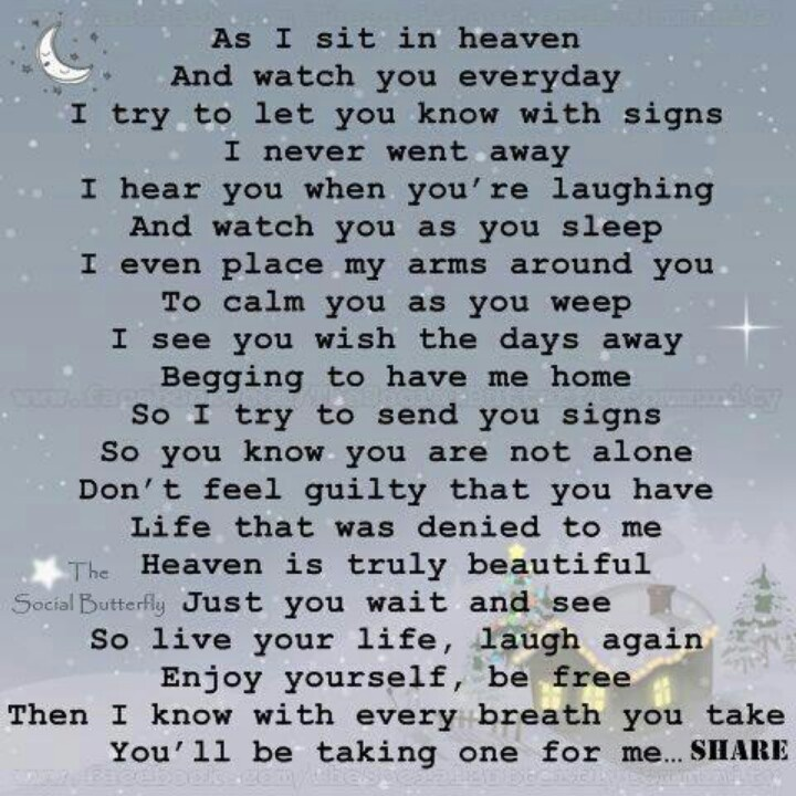 letter from heaven ♡♥♡♥ For My BFF Mary Who lost her only ...