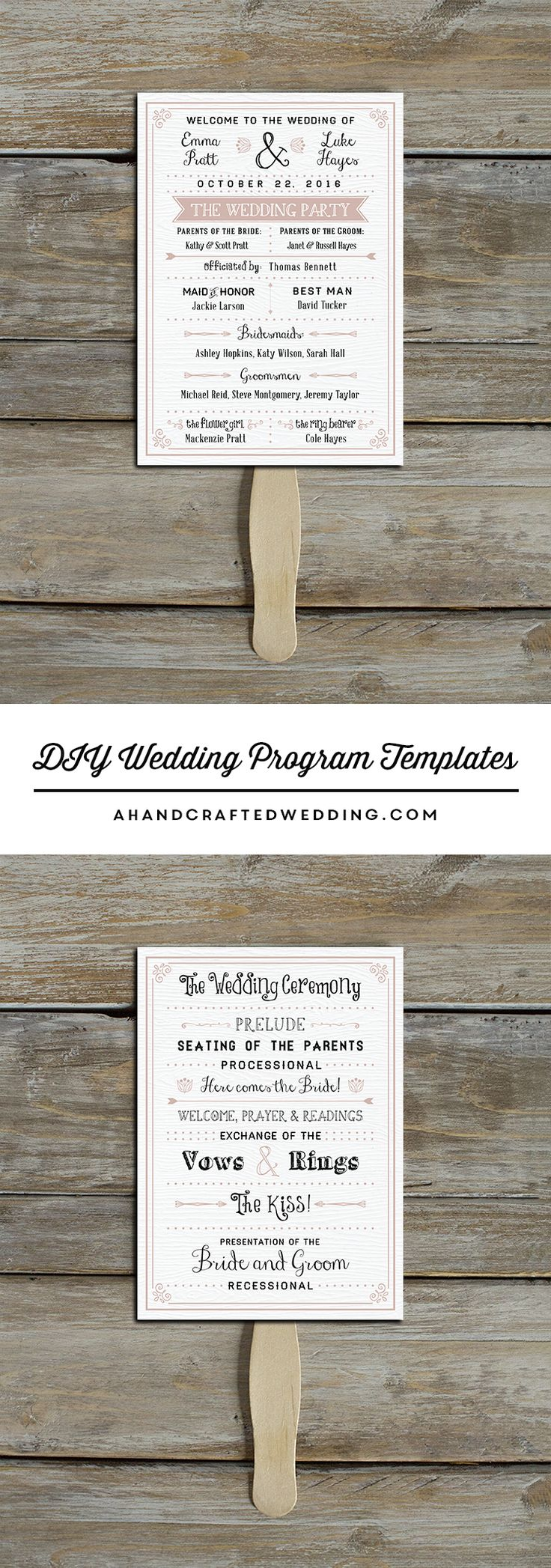 Download and customize this vintage inspired DIY Wedding