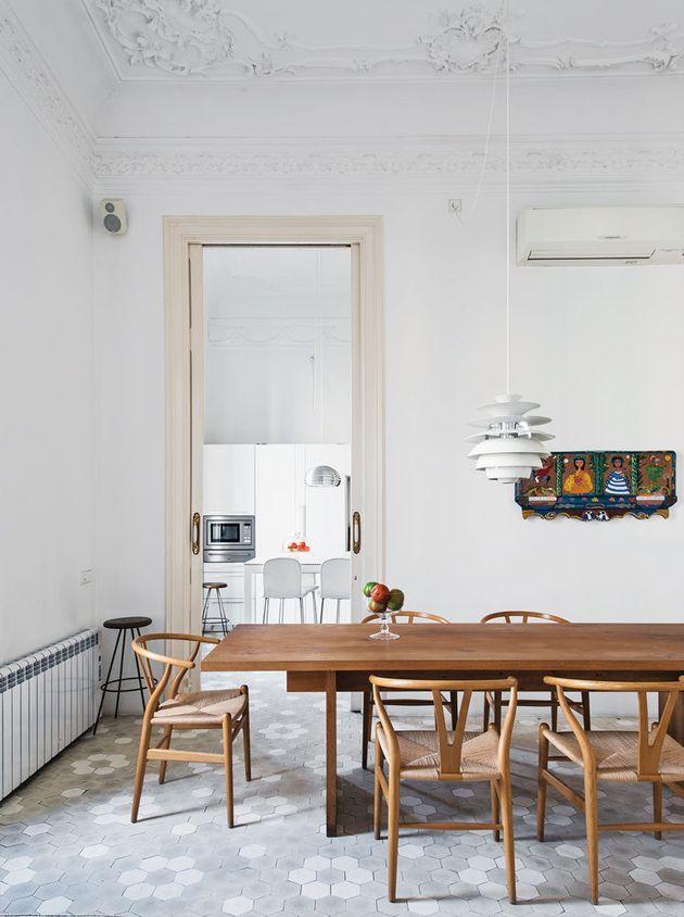Ambientes #nórdicos y contemporáneos con la #lámpara Paul Henningsen Snowball #deco