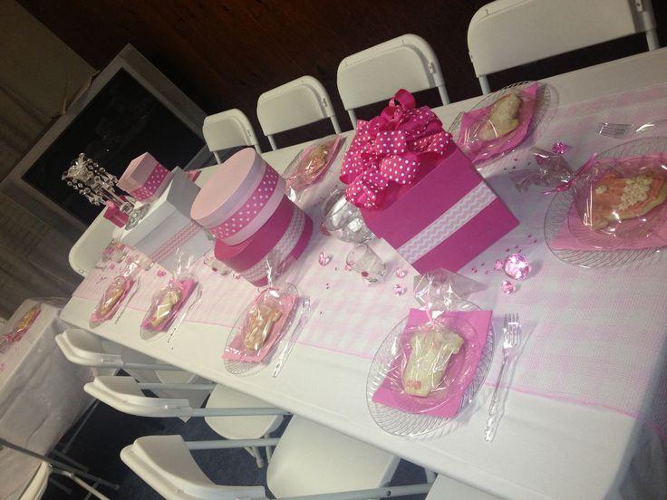 girl baby shower table set up baby pinterest