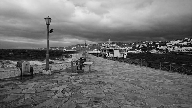 #Delos #boat at the #Old #port  of #Mykonos #town ..