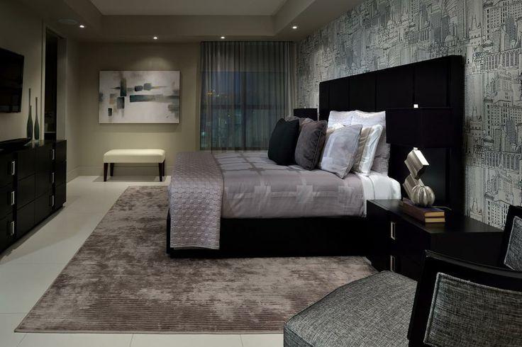 Client bedroom designed by Glen & Jamie from Peloso Alexander Interiors. #bedroom #GlenandJamie #design #bed #chair #art #bed