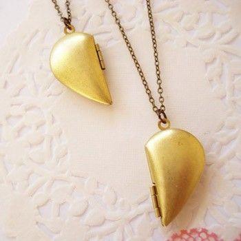 cute best friend jewelry | ... Vintage Goods Best Friends Heart Locket Set - Gold - Jewelry - Girls