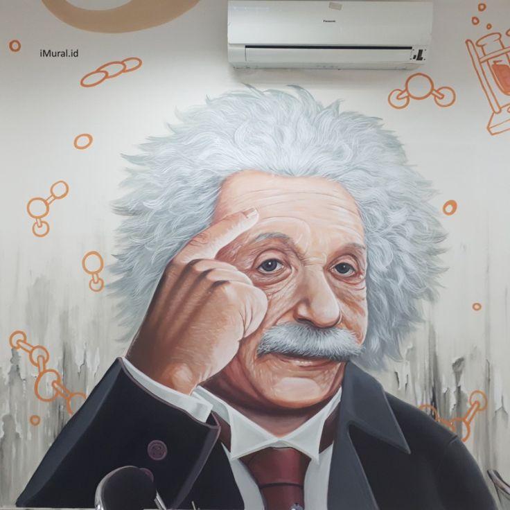 albert einstein, mural albert einstein, mural, jasa mural, mural kantor, jasa lukis dinding, jasa mural kantor-Desain by iMural