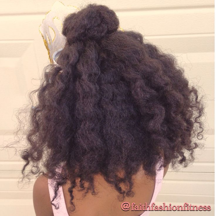 Natural Hairstyle Ninja bun with twist out  Recital hair