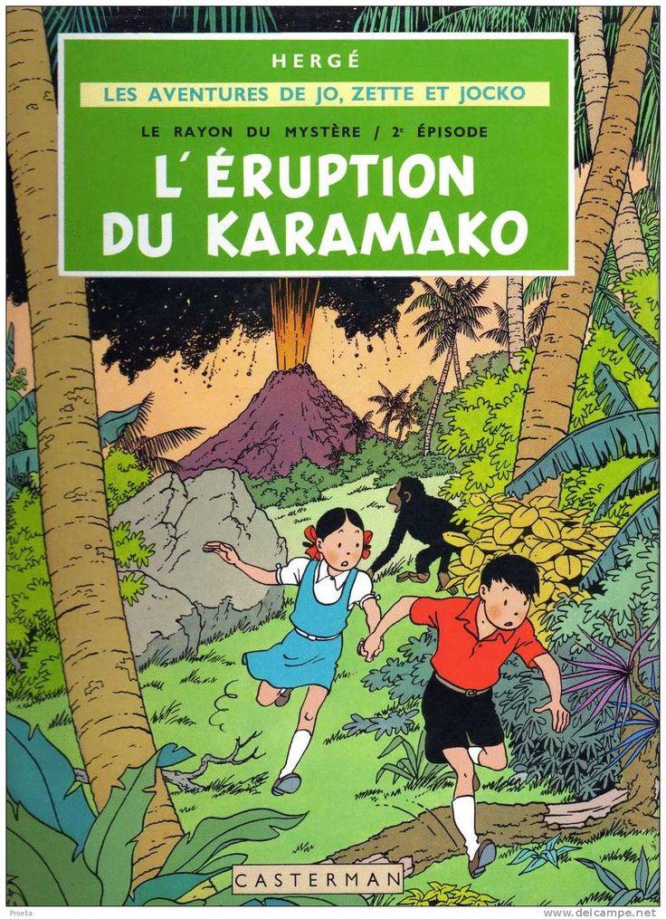 Les Adventures de Jo, Zette, et Jocko: L'Eruption du Karamako - Herge