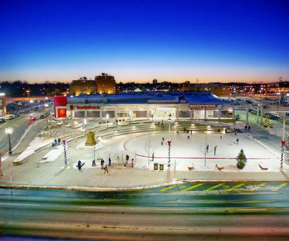 The Uptown Waterloo skating rink