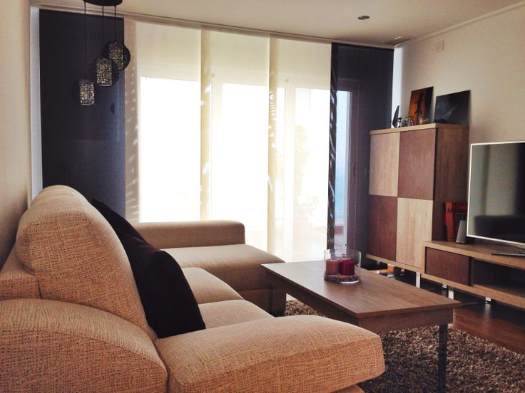 paneles japoneses de tejido screen combinados