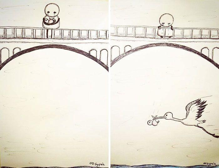 15個「只有內心有黑暗的人」才看得懂的「半黑暗系」愛情插畫作品!% 照片