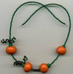 Free Tutorial Polymer Clay Pumpkin Vine Necklace