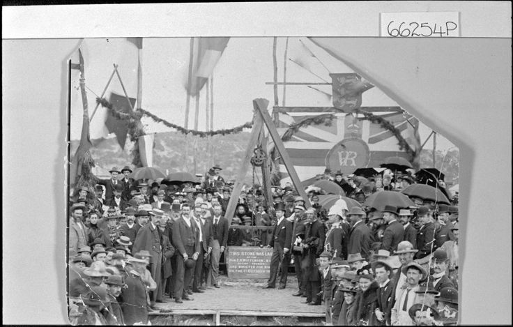 066254PD: Laying of foundation stone of Council Chambers, Marine Terrace, Geraldton, 1897 http://encore.slwa.wa.gov.au/iii/encore/record/C__Rb3727370?lang=eng